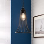 Iron Cone Cage Hanging Lamp