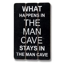 Man Cave Plaque
