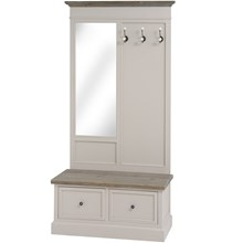 The Grove Collection Hallway Tidy Unit with Mirror