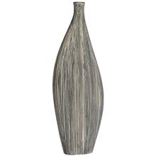 Grey Ceramic Asymmetrical Vase