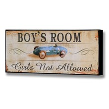 Boys room plaque