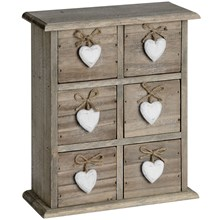 Mini 6 Heart Chest of Drawers