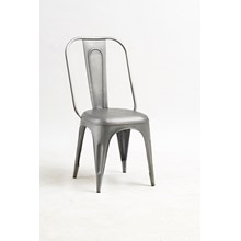 New Industrial Grey Metal Chair (sold in pairs)