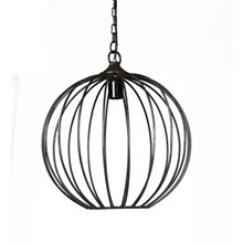 Iron Sphere Cage Hanging Lamp