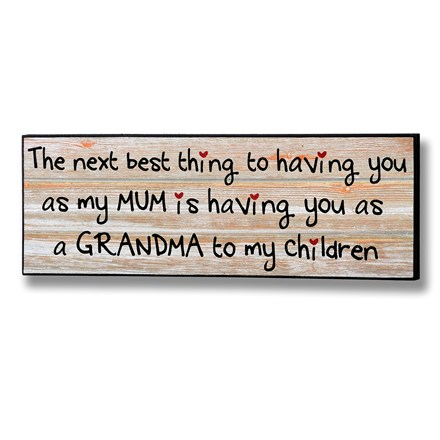 A Grandma to my Children Plaque