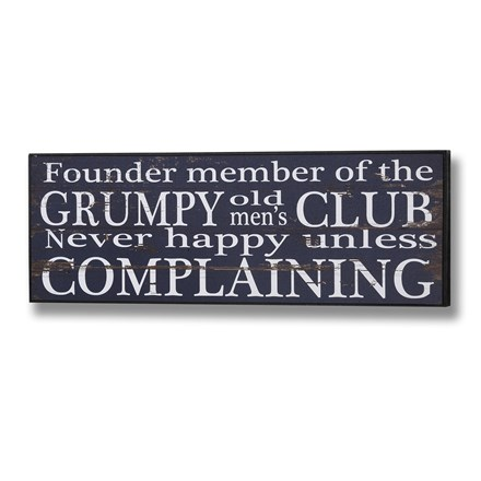 Grumpy old men's club plaque