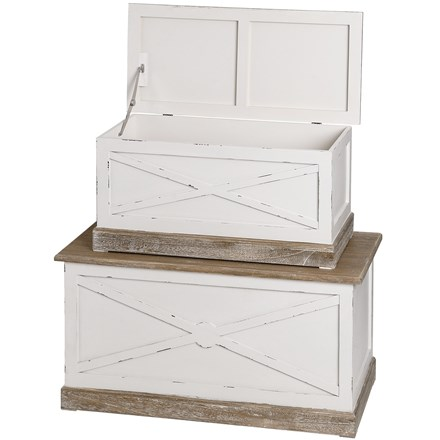 Chesterfield Set of 2 Blanket Boxes