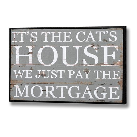 It's the Cat's House Plaque