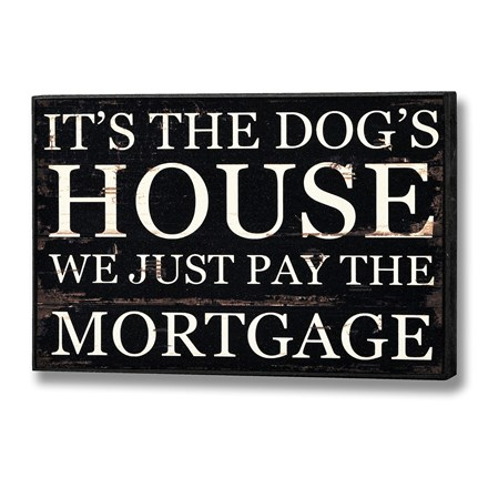 It's the Dog's House Plaque