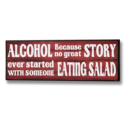Alcohol and Salad Plaque