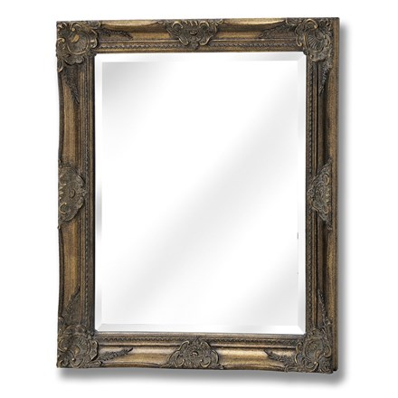 Antique Gold Rectangular Mirror