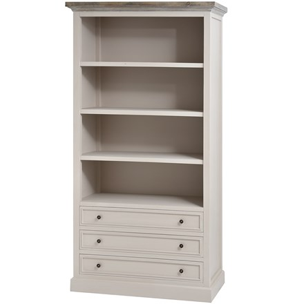 The Grove Collection Large 3 Drawer Bookcase