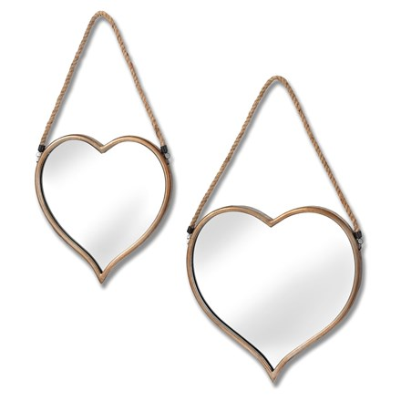 Set of two Heart Mirrors