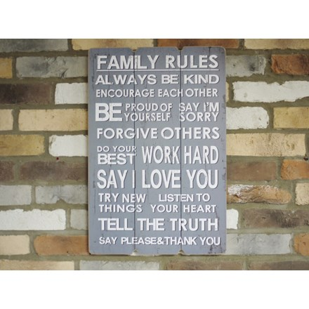 Family Rules Plaque