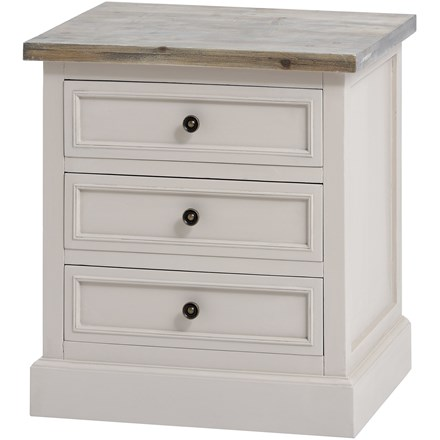 The Grove Collection 3 Drawer Side Table