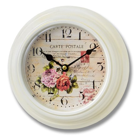 Small Floral Wall Clock