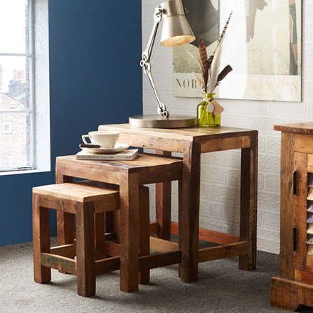 Reclaimed Indian Nest of Tables
