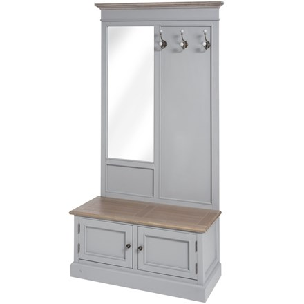 Cambridge Collection Hallway Tidy Unit with Mirror