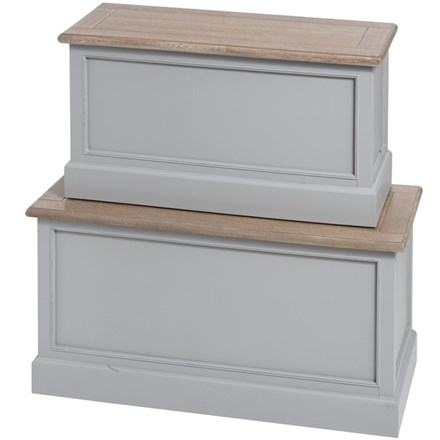 Cambridge Collection Blanket Boxes (set of two)