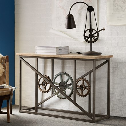 Guntur Console table with Cogs