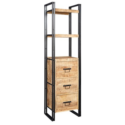New Industrial Slim Bookcase