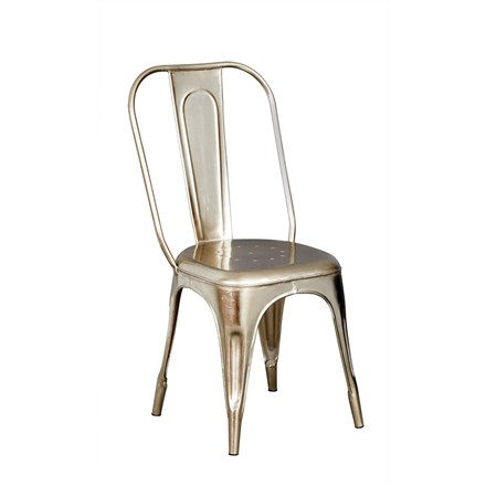 New Industrial Silver Metal Chair (Sold in pairs)