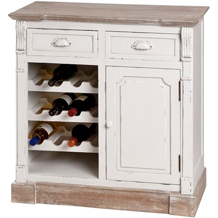 Chesterfield Collection Small Sideboard Cabinet with Wine Rack