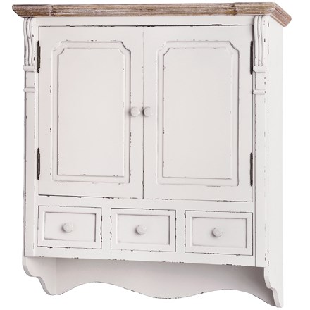 Chesterfield Collection Wall Mounted Cupboard with Drawers