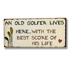 Old Golfer Wall Plaque