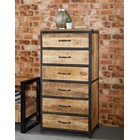 New Industrial Six Drawer Tall Chest