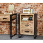 New Industrial Two Drawer Side table