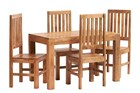mango 4ft Dining Set with Wooden Chairs