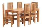 Mango 6ft Dining Set with Wooden Chairs