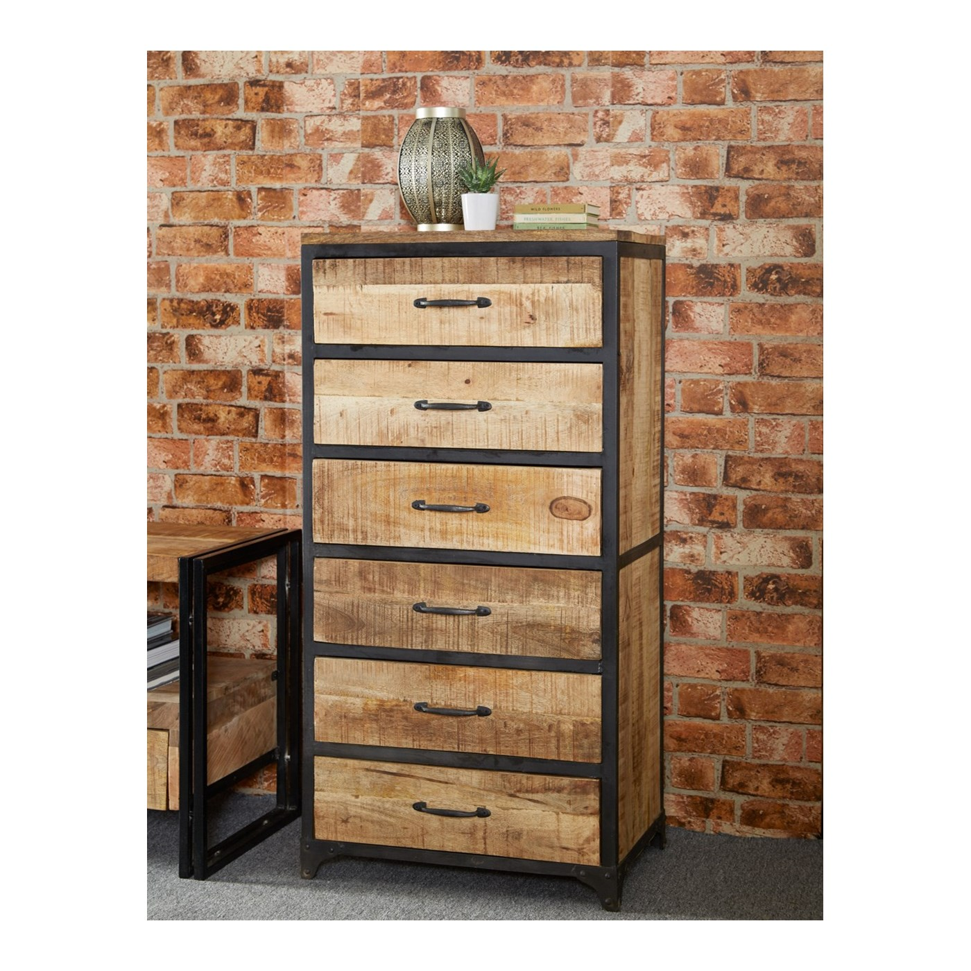 product of chest vintage iron industrial drawers metal style drawer