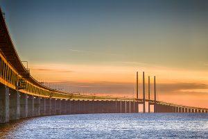 Bridge over water landscape banner image