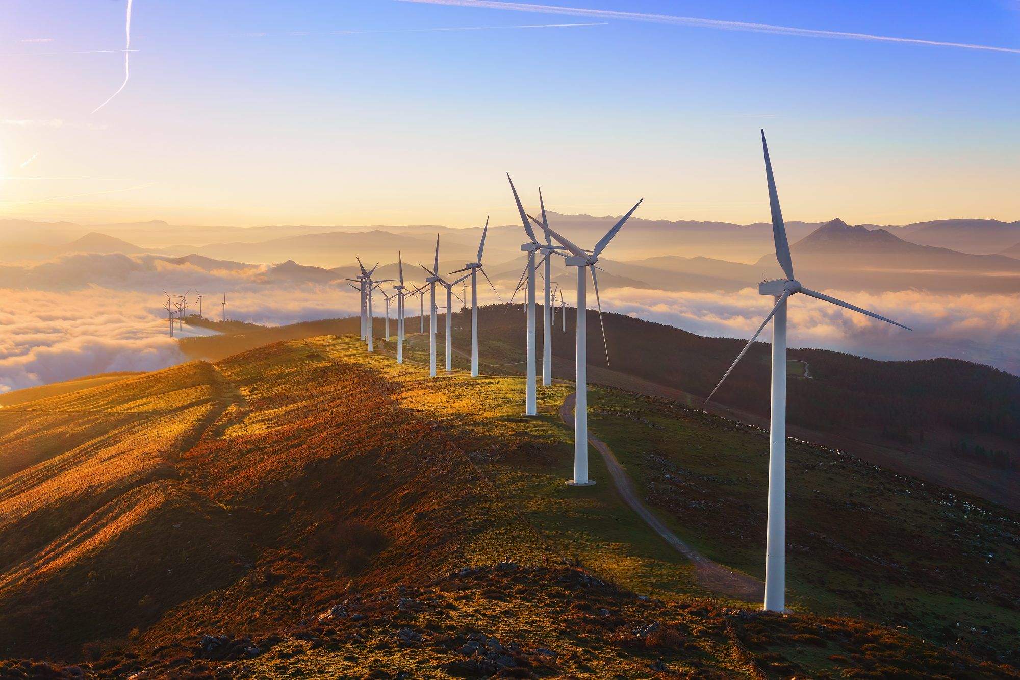 Wind turbine landscape image