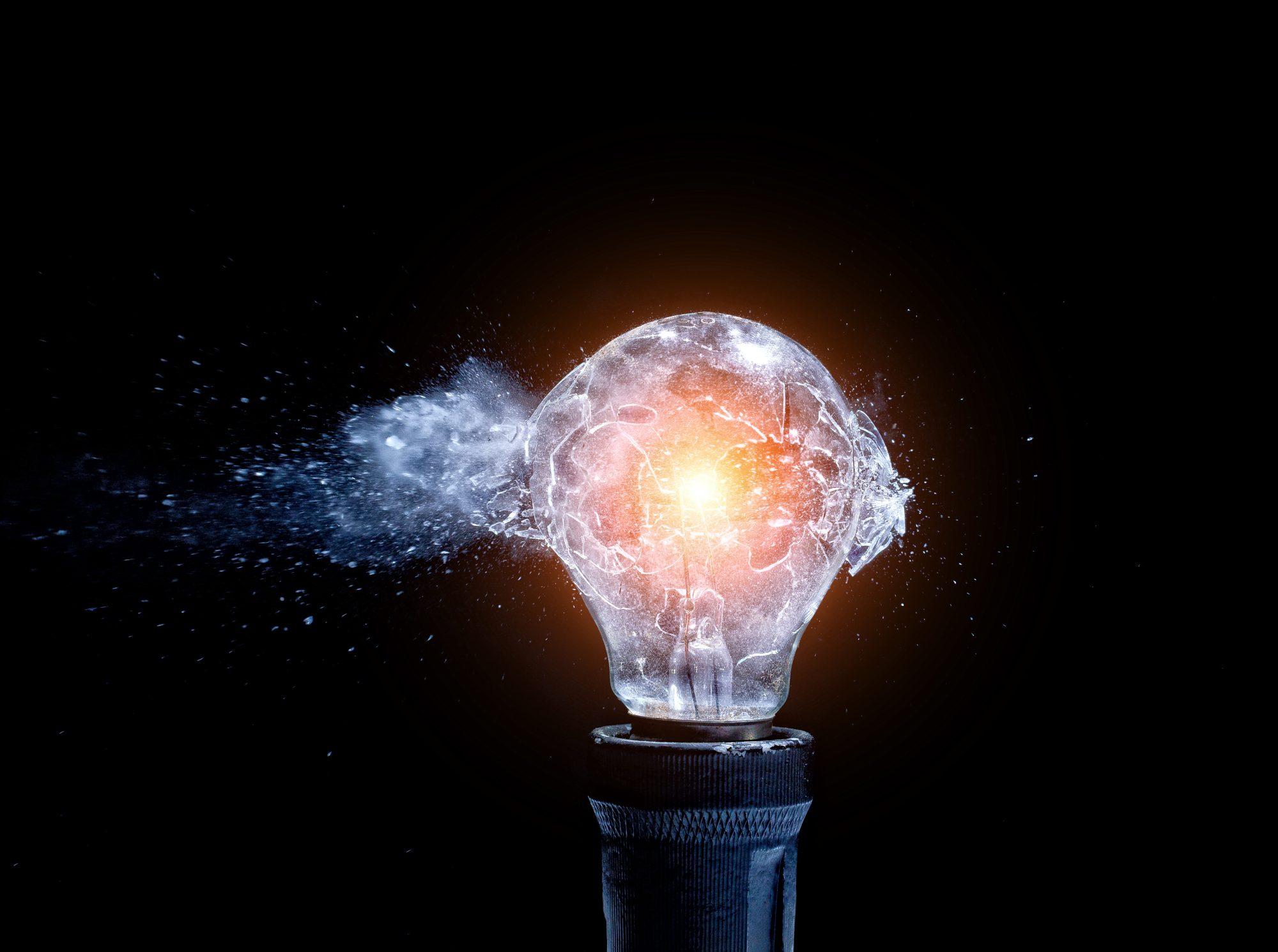 Presentation concepts lightbulb banner image