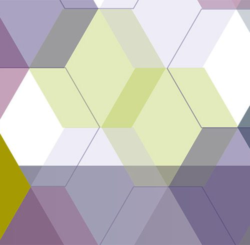 Abstract hexagon report cover