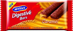 Mcvities Digestive Caramel Bars 30g
