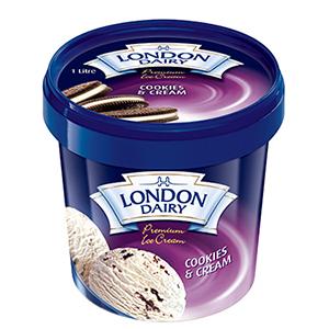London Dairy Cookies & Cream 1L