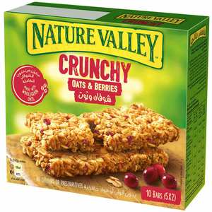 Nature Valley Crunchy Granola Bars Oats And Berries Box 5x42g