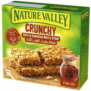 Nature Valley Crunchy Granola Bars Maple Syrup Box 6x42g