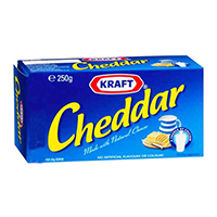 Kraft Cheddar Cheese Block For Cooking 250g