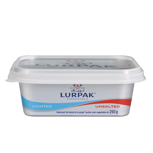 Lurpak Unsalted Lighter Spreadable Butter Tub 250g