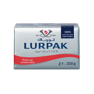 Lurpak Unsalted Butter Block 200g