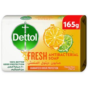 Dettol Fresh Anti-Bacterial Bathing Soap Bar Citrus & Orange Blossom Fragrance 165g