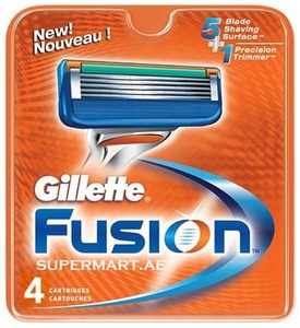 Gillette Fusion Men's Razor Blade Refills 4s