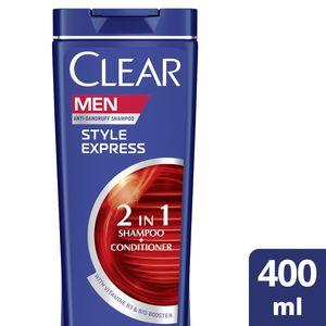 Clear Men's AntiDandruff Shampoo Style Express 2In1 400ml