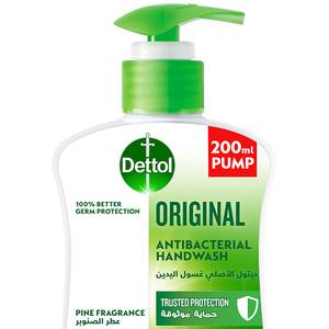 Dettol Original Handwash Liquid Soap Pump Pine Fragrance 200ml