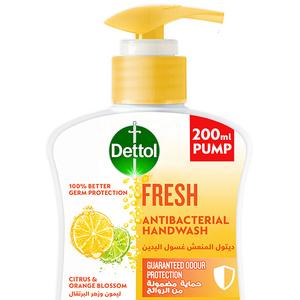 Dettol Fresh Handwash Liquid Soap Pump Citrus & Orange Blossom Fragrance 200ml